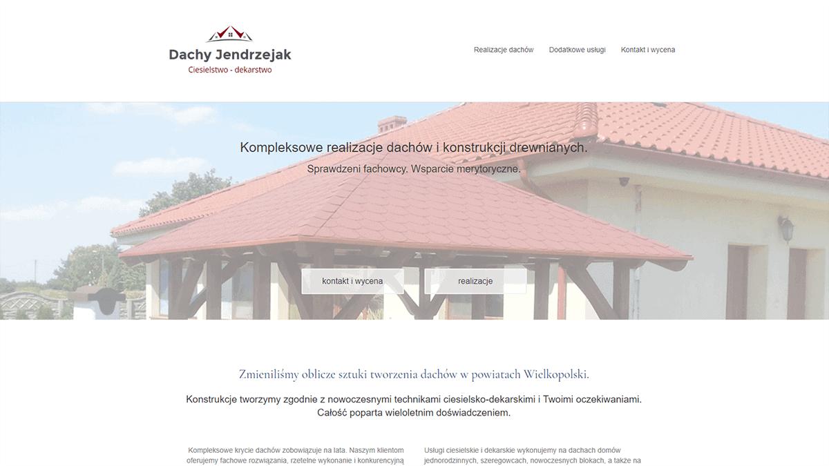 projekt strony www dla uslug dekarskich