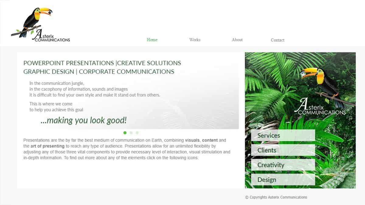 strona internetowa agencji projektowej
