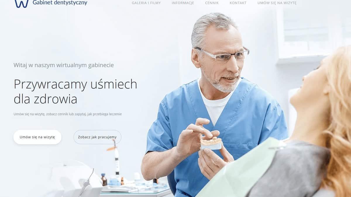 strona internetowa gabinetu dentystycznego