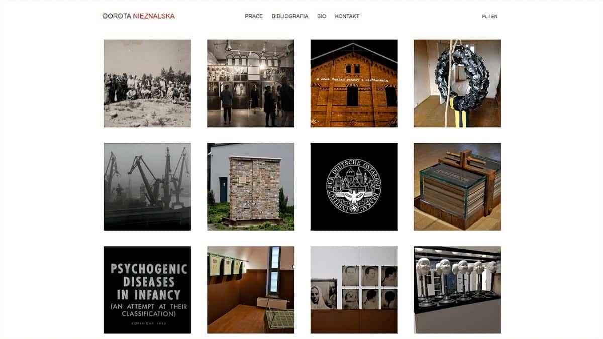 strony internetowe dla artystow
