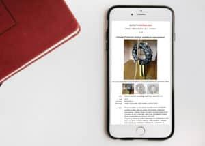responsywna strona internetowa dla artystki