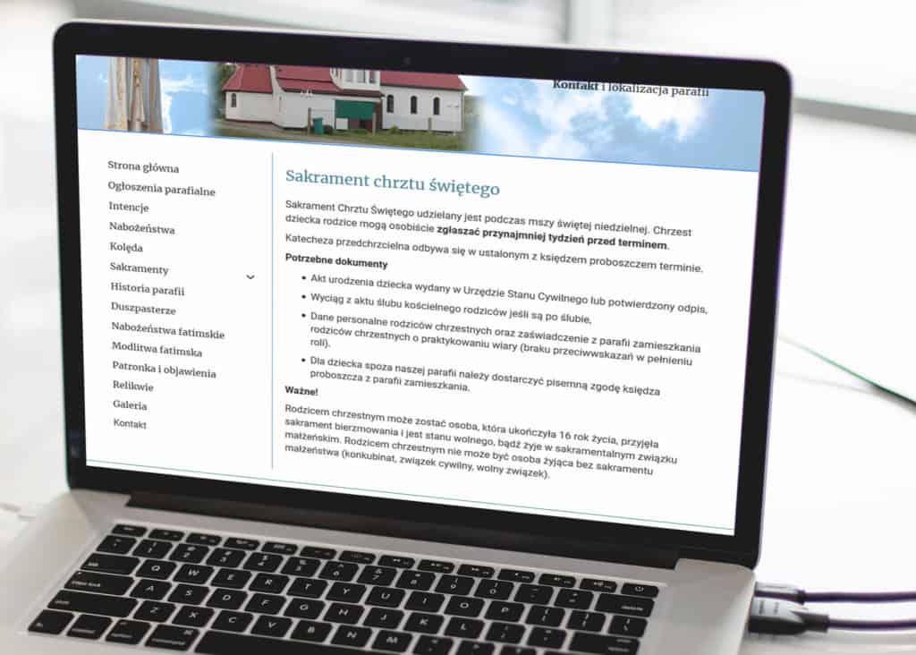 strona internetowa dla parafii Gdańsk