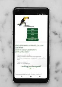 strona internetowa dla studia graficznego