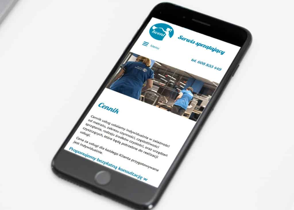 strona www dla firmy sprzatajacej rwd